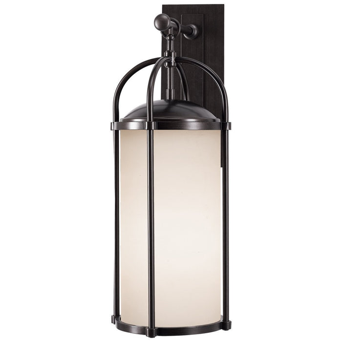 Feiss Dakota 1 Light White Aged Oak Glass Wall Lantern
