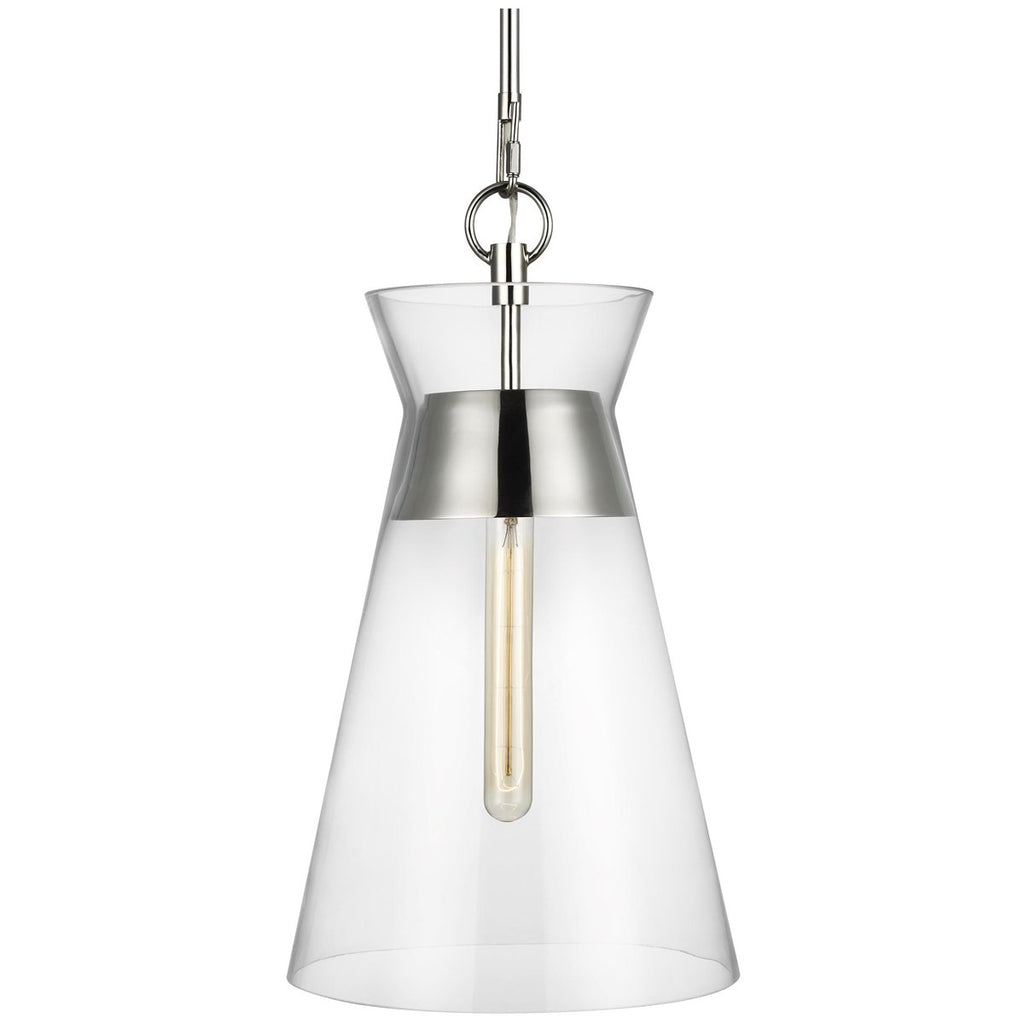 Feiss Atlantic 1-Light Clear Pendant