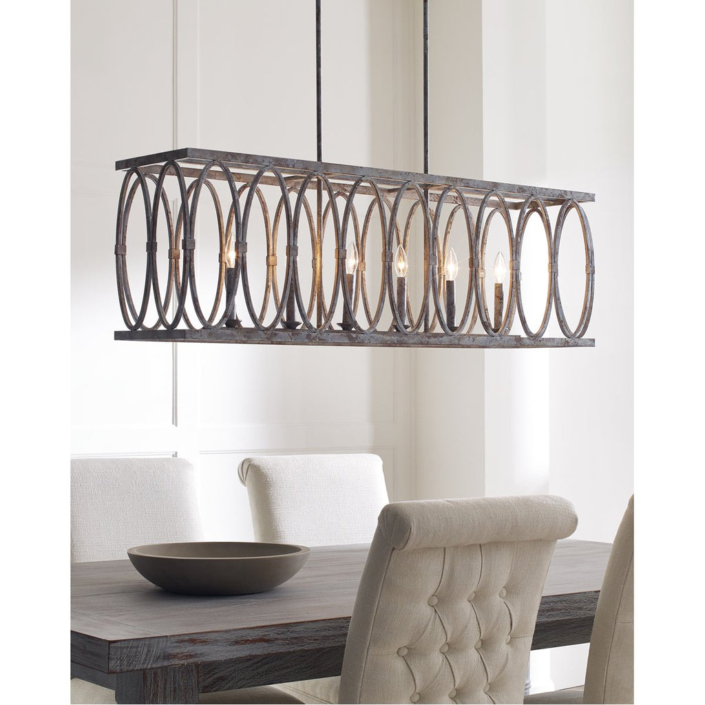 Feiss Patrice 6-Light Linear Chandelier