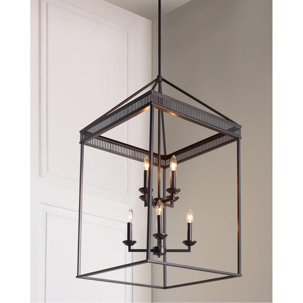 Feiss Woodruff 4-Light Chandelier