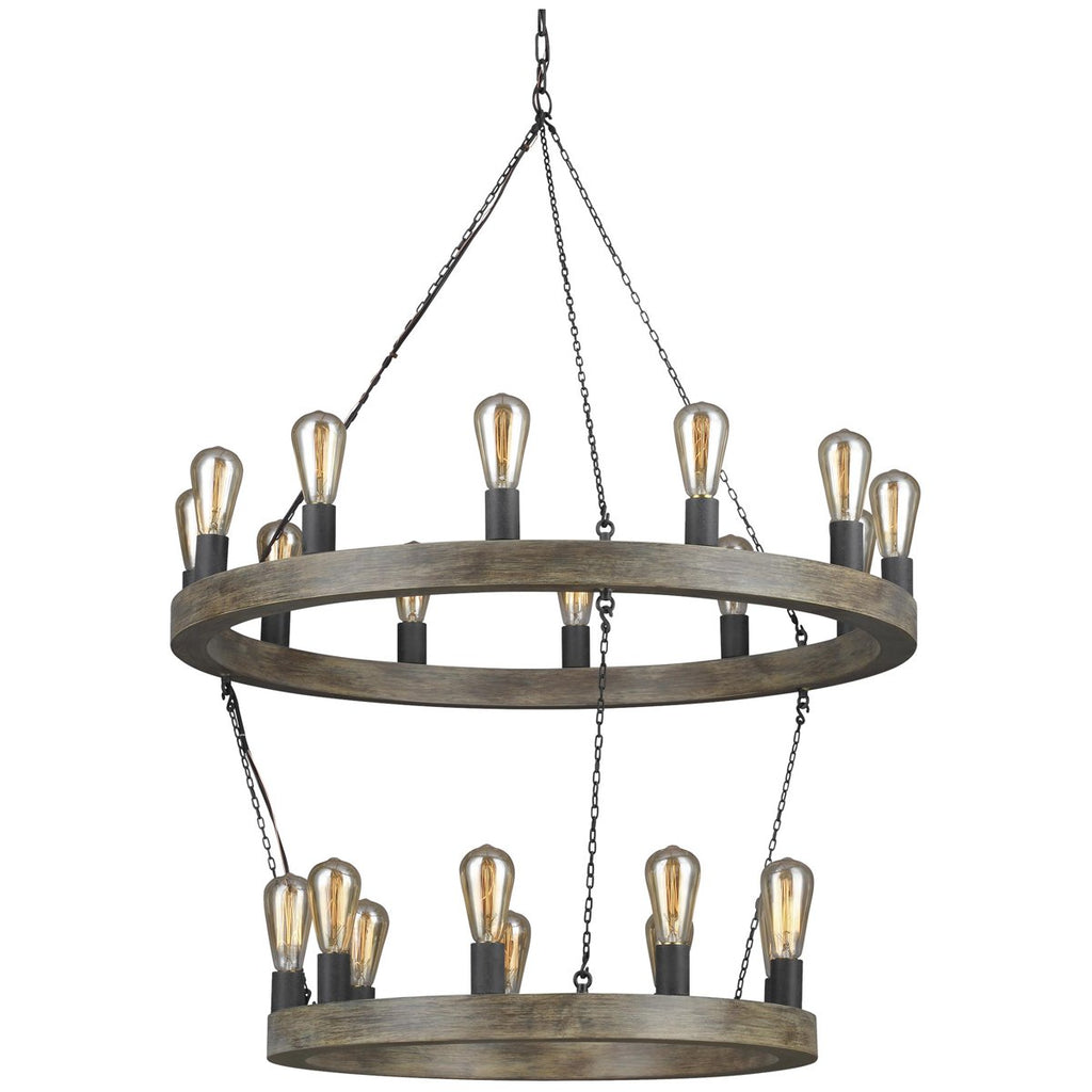 Feiss Avenir 21-Light Two-Tier Chandelier