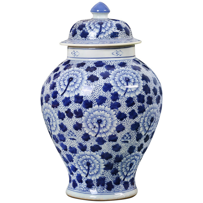 Bungalow 5 Flower Temple Jar in Blue and White