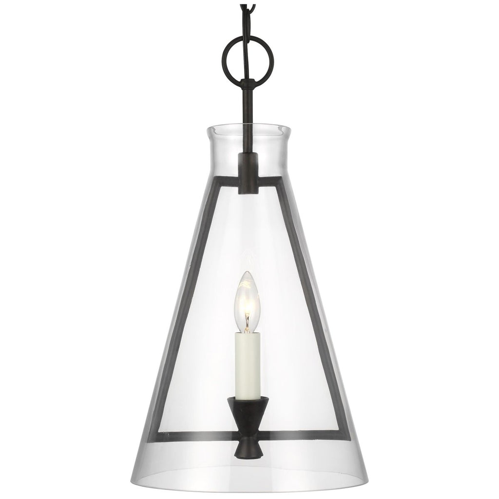Feiss Keystone 1-Light Aged Iron Pendant