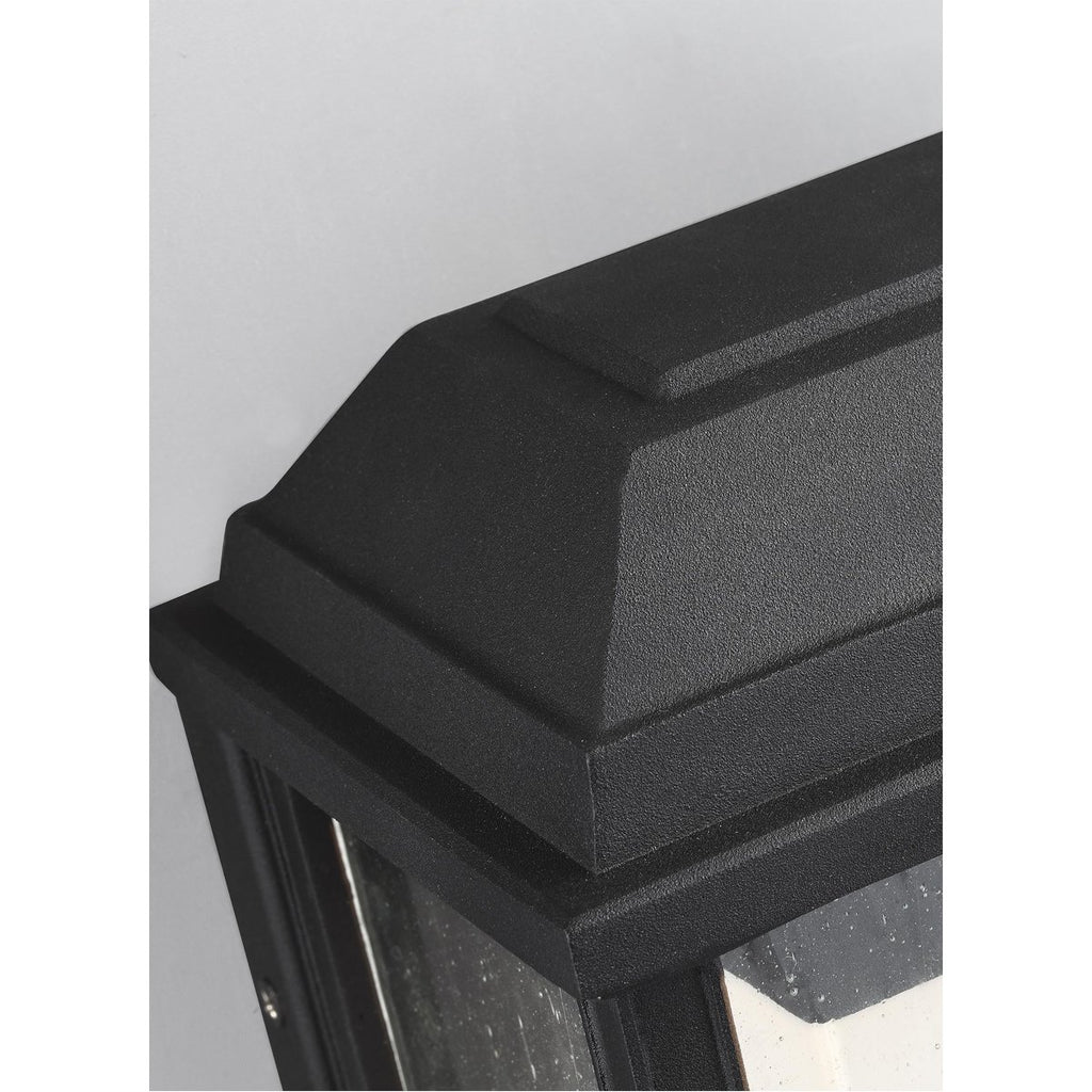 Feiss McHenry 1-Light Outdoor Wall Lantern in Textured Black