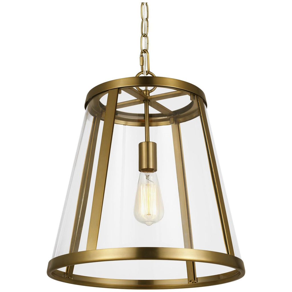 Feiss Harrow 1-Light Harrow Pendant - Burnished Brass