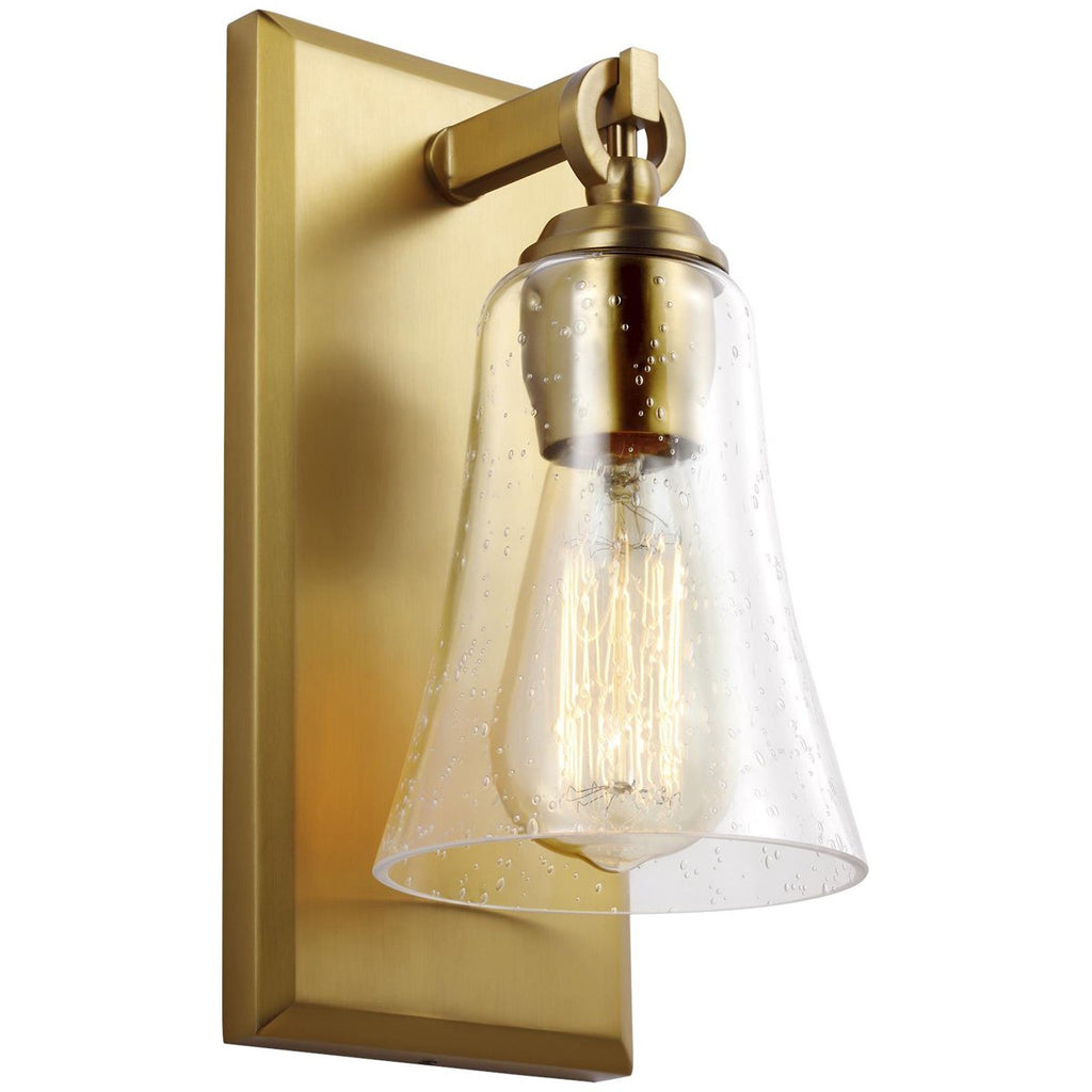 Feiss Monterro 1-Light Steel Wall Sconce - Burnished Brass