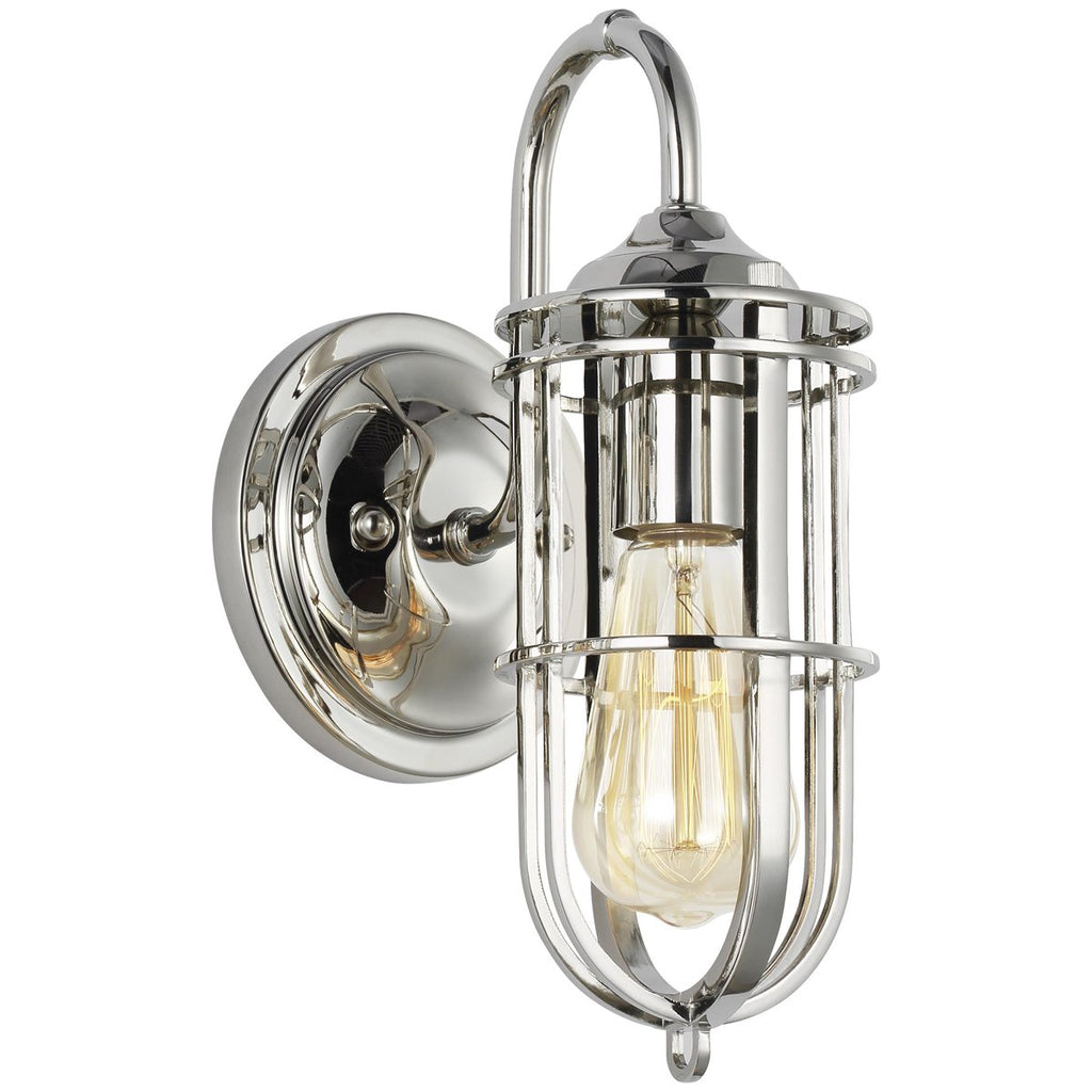 Feiss Urban Renewal 1-Light Wall Sconce - Polished Nickel