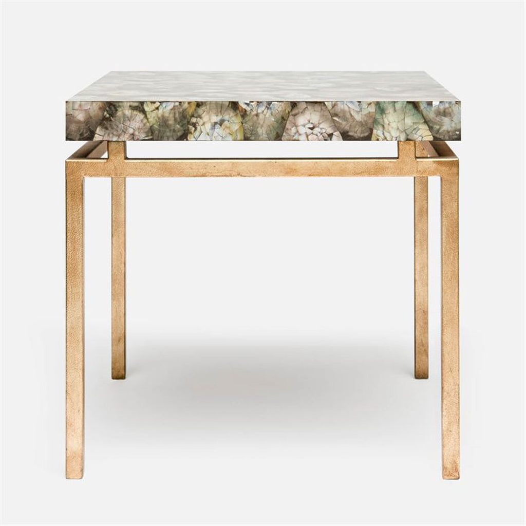 Made Goods Benjamin Floating Leg Side Table in Mop Shell