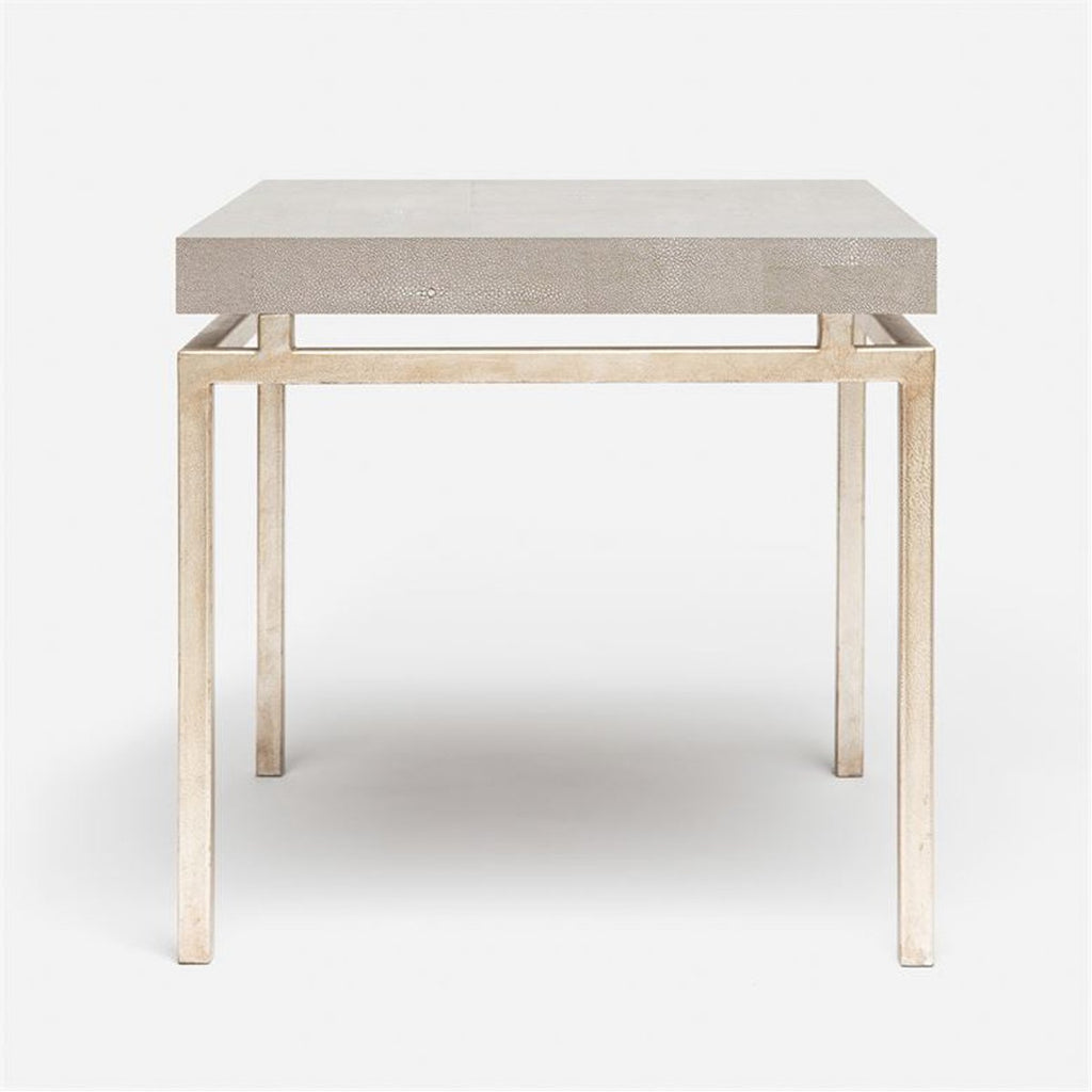 Made Goods Benjamin Floating Leg Side Table in Faux Shagreen