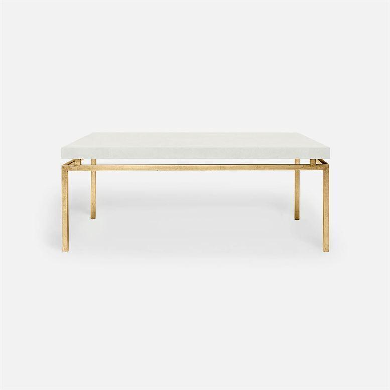 Made Goods Benjamin Small Faux Shagreen Coffee Table