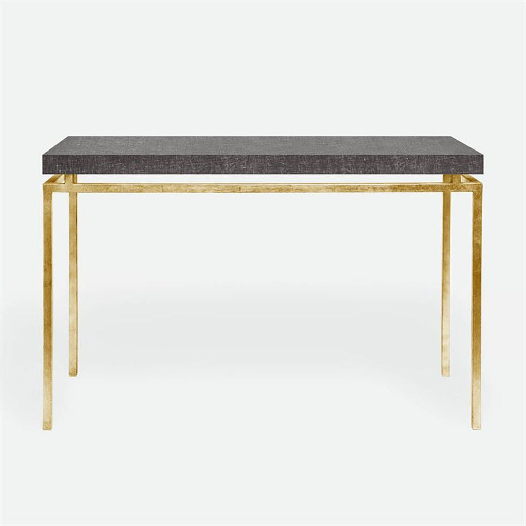 Made Goods Benjamin Faux Linen Top Console Table