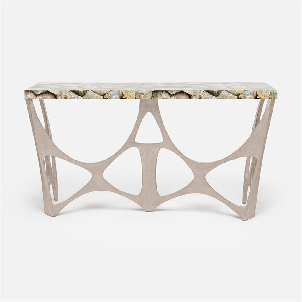 Made Goods Calloway Modernist Shell Top Console Table