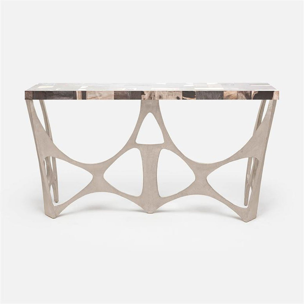 Made Goods Calloway Modernist Wood Top Console Table