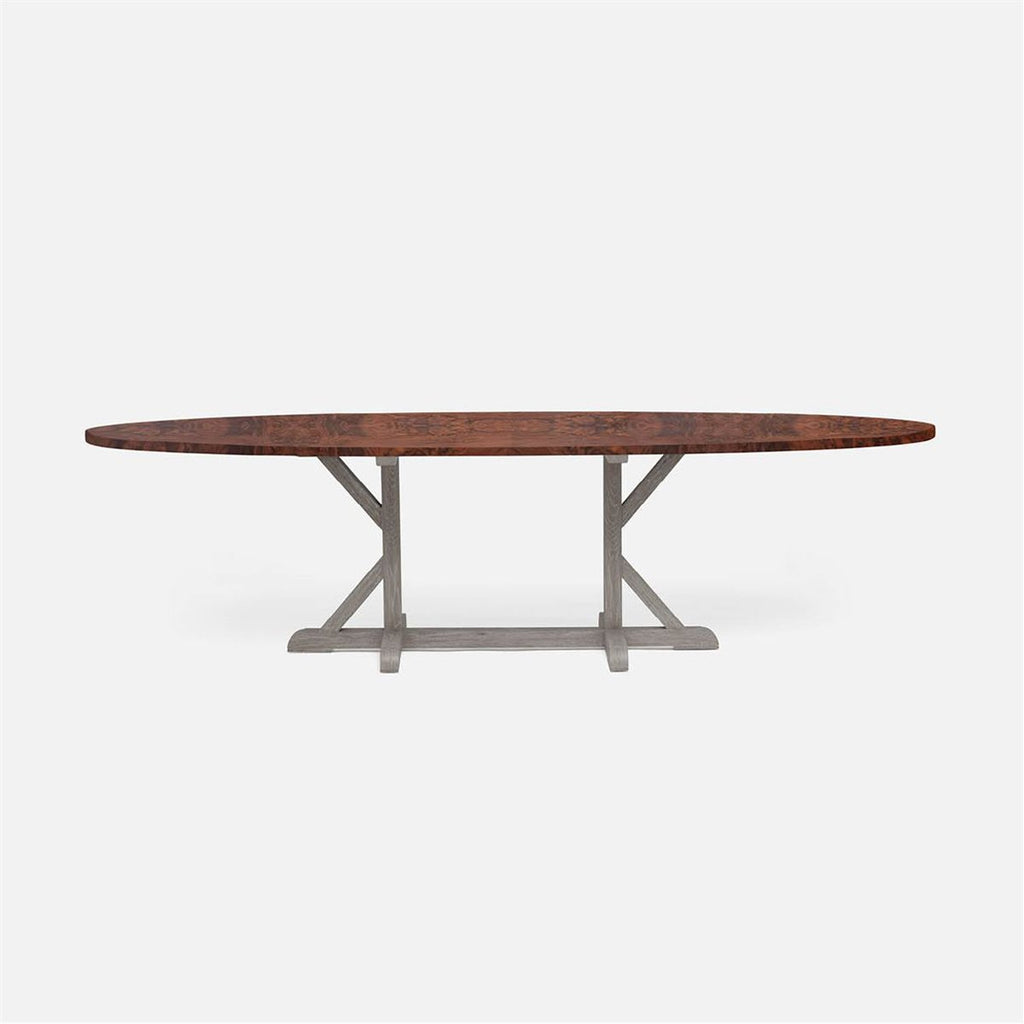 Made Goods Dane Oval Farm Dining Table in Veneer
