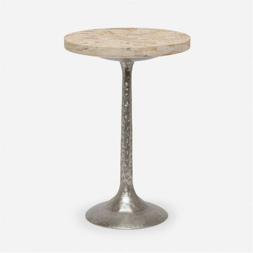 Made Goods Delancy Bistro Side Table in Crystal Stone