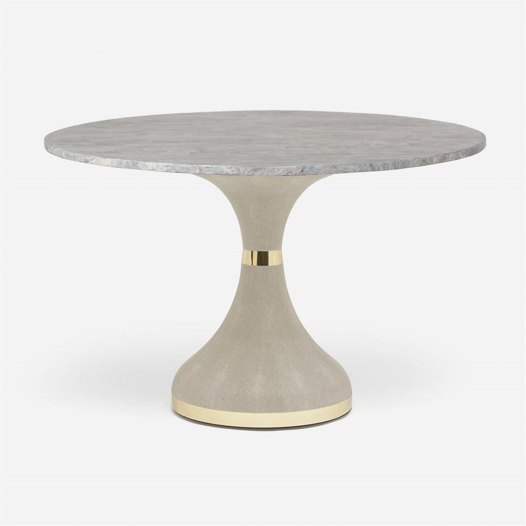 Made Goods Elis Dining Table in Stone