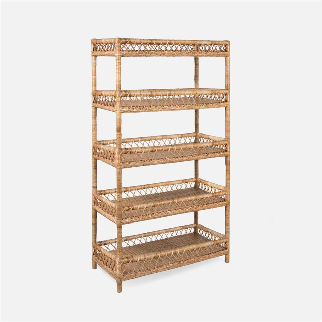 Made Goods Elwood Rattan Bookcase