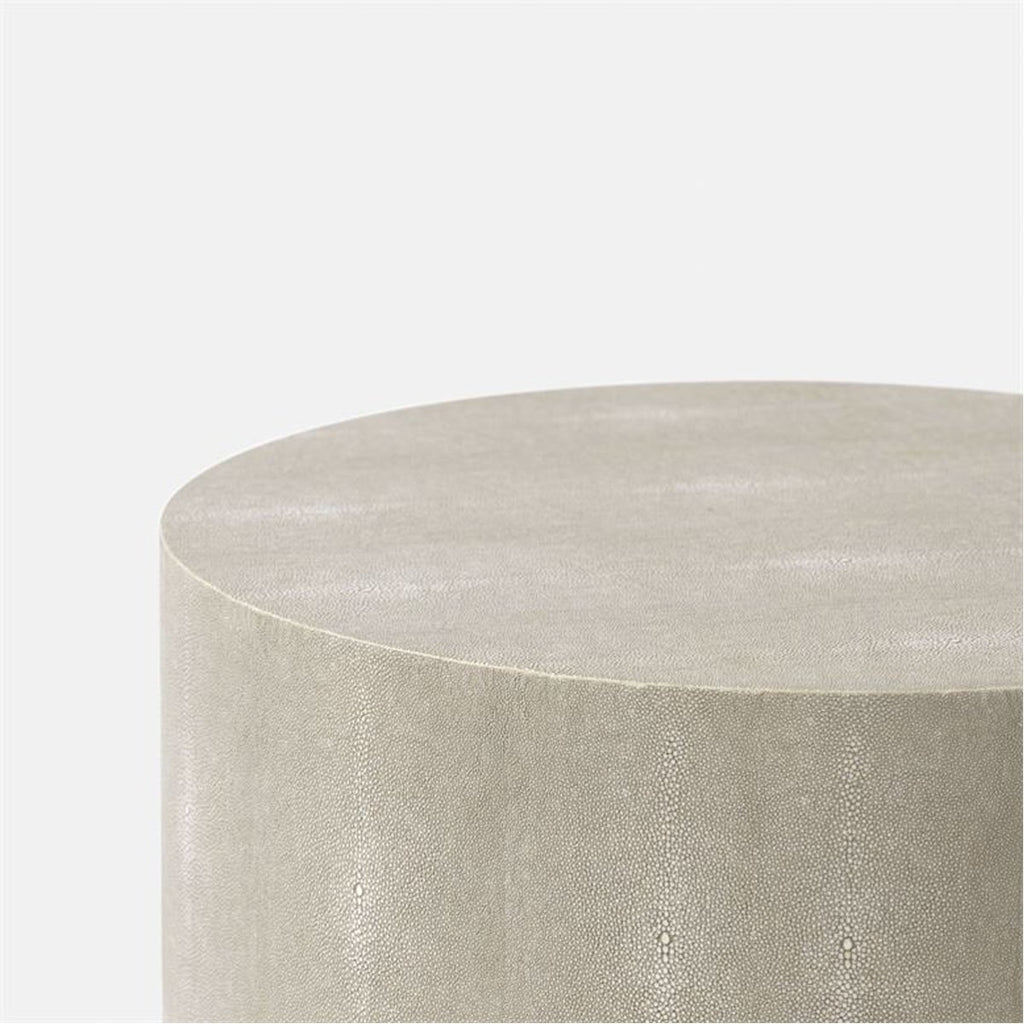 Made Goods Emerson Realistic Faux Shagreen Marbleized Resin Side Table