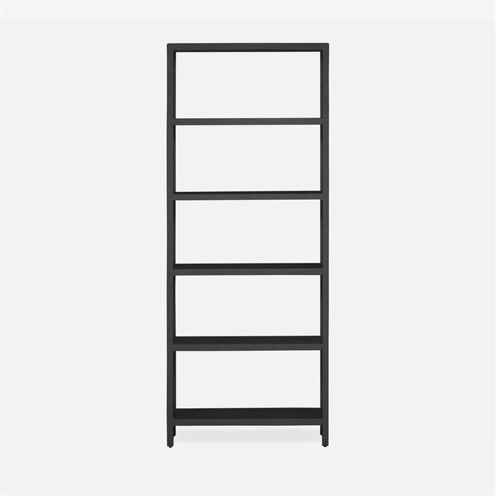 Made Goods Jake Narrow 6-Shelf Faux Belgian Linen Bookcase