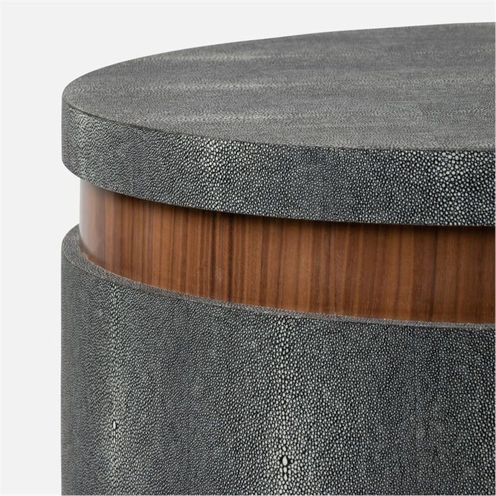 Made Goods Jaxon Realistic Faux Shagreen and Veneer Side Table