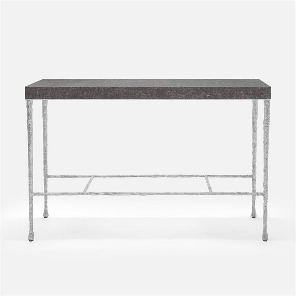 Made Goods Jovan Faux Linen Top Console Table