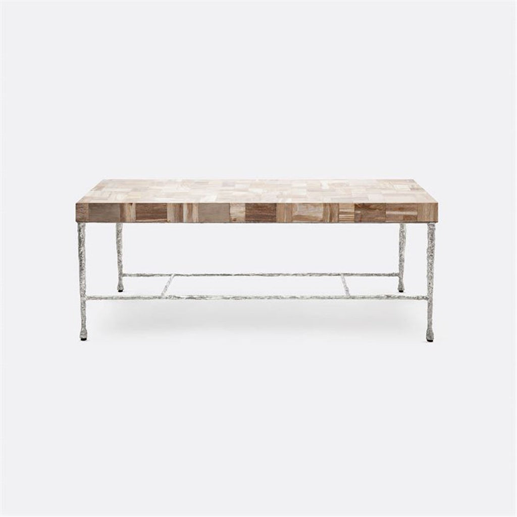 Made Goods Jovan Mix Petrified Wood Coffee Table