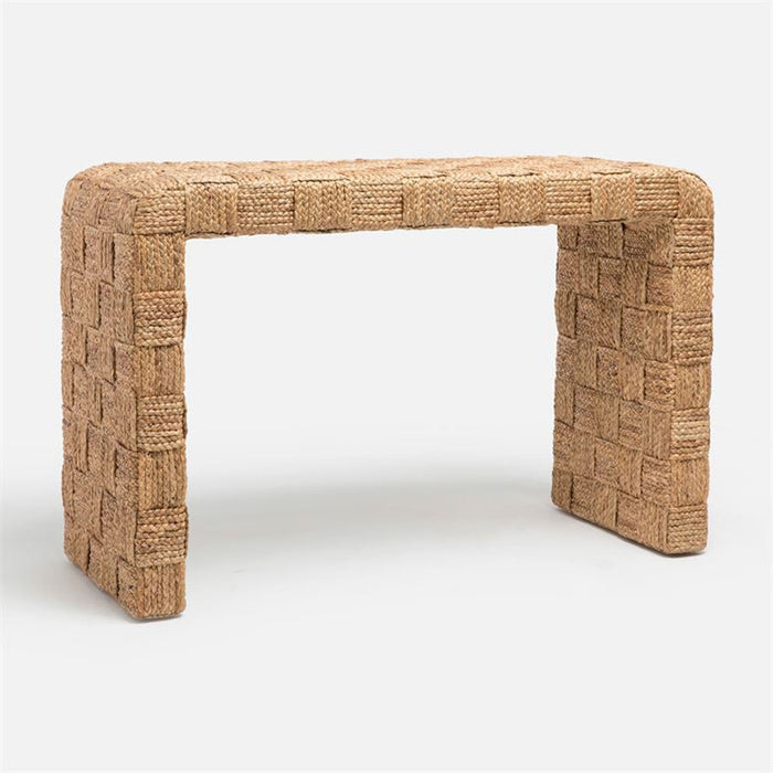 Made Goods Juleen Checkered Weave Waterfall Console Table