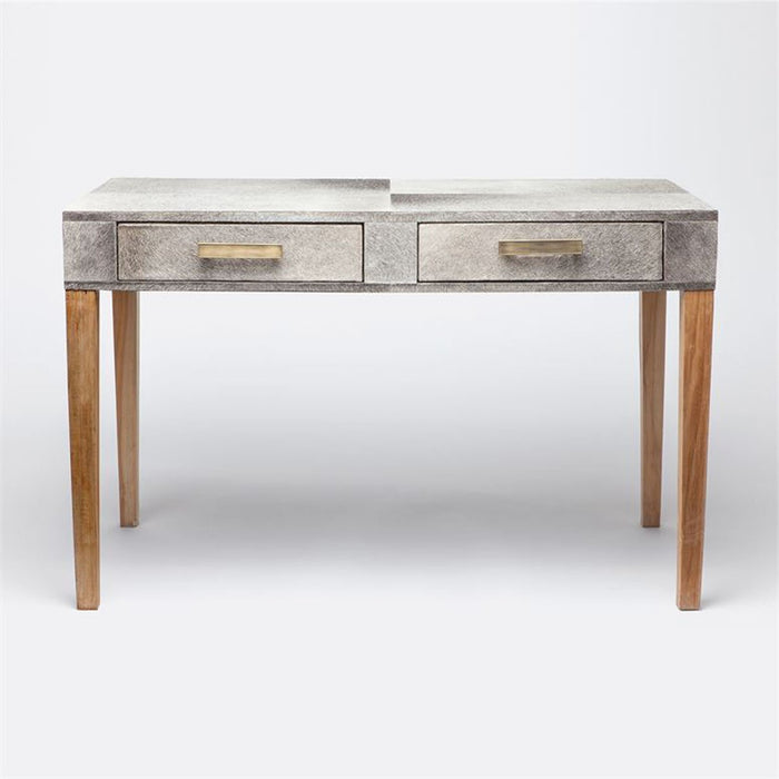 Made Goods Keaton Leather and Teak Desk