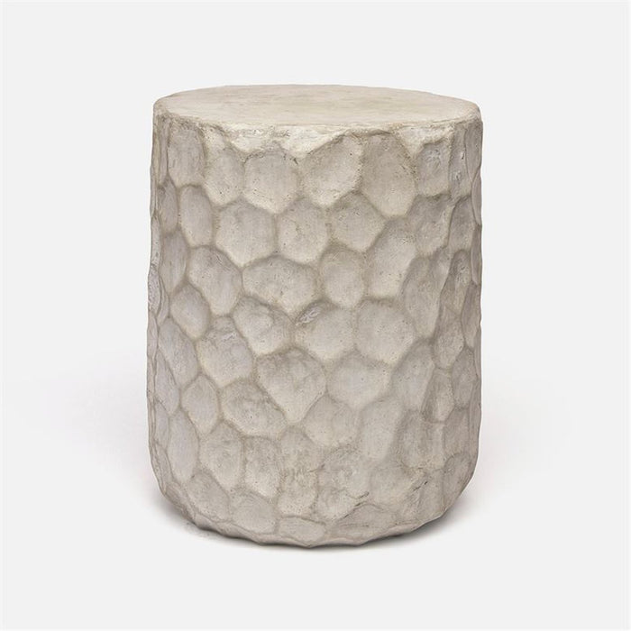 Made Goods Kemma Dimpled Concrete Outdoor Stool