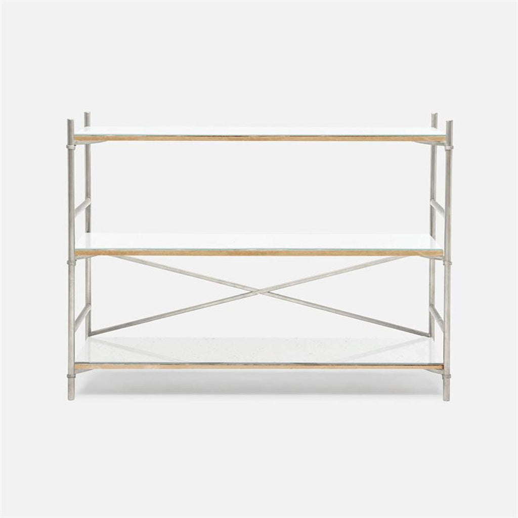 Made Goods Kenneth Mirror 3-Shelf Bookcase