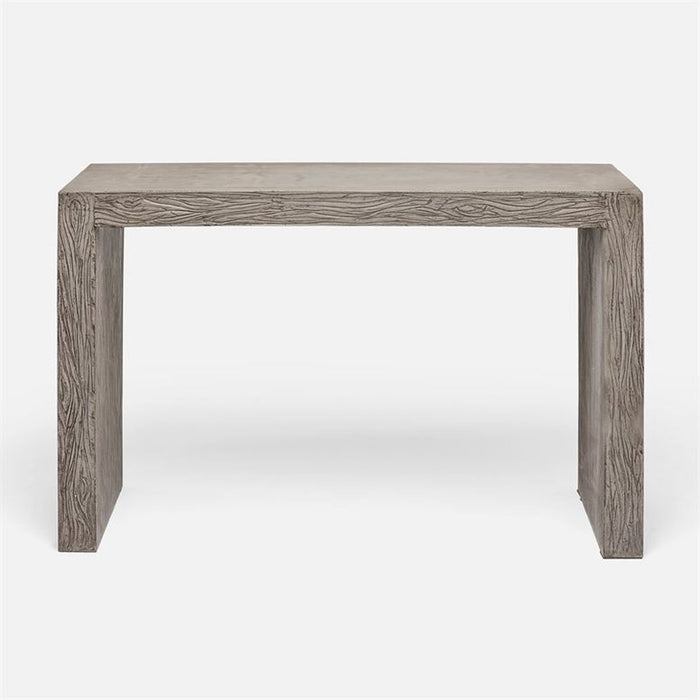 Made Goods Liam Etched Concrete Parson Console Table