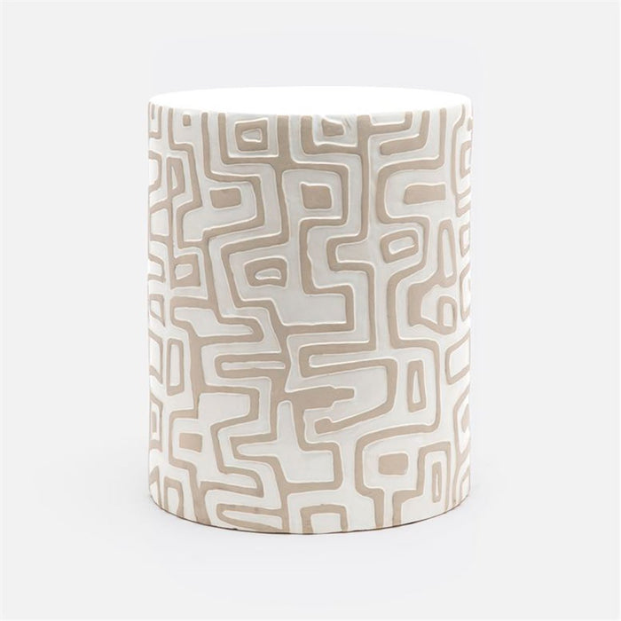 Made Goods Loman Graphic Patterned Ceramic Outdoor Stool