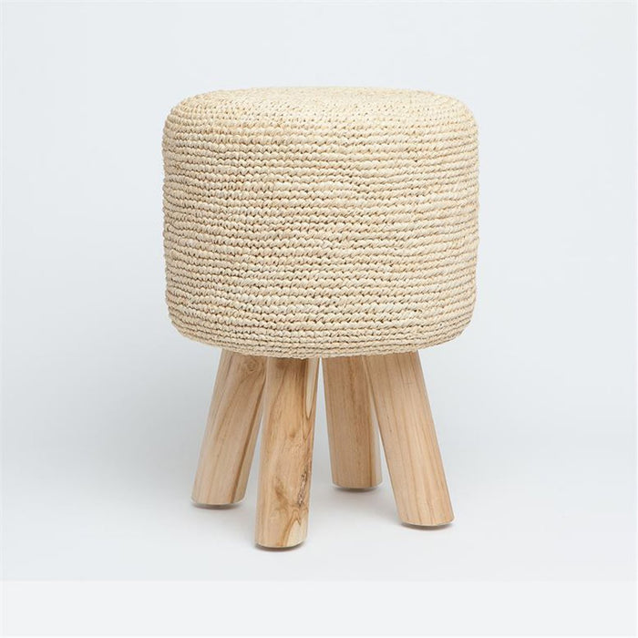Made Goods Woven Raffia Luna Stool