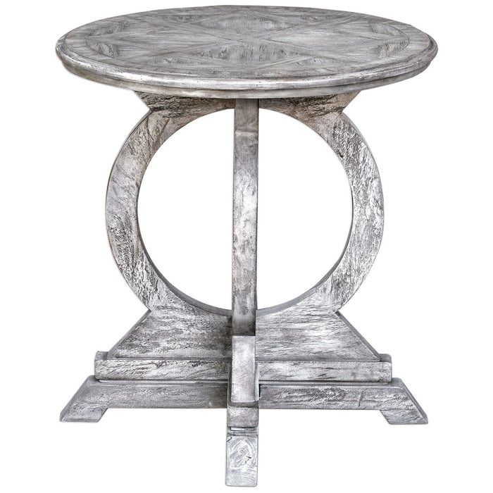 Uttermost Maiva White Accent Table