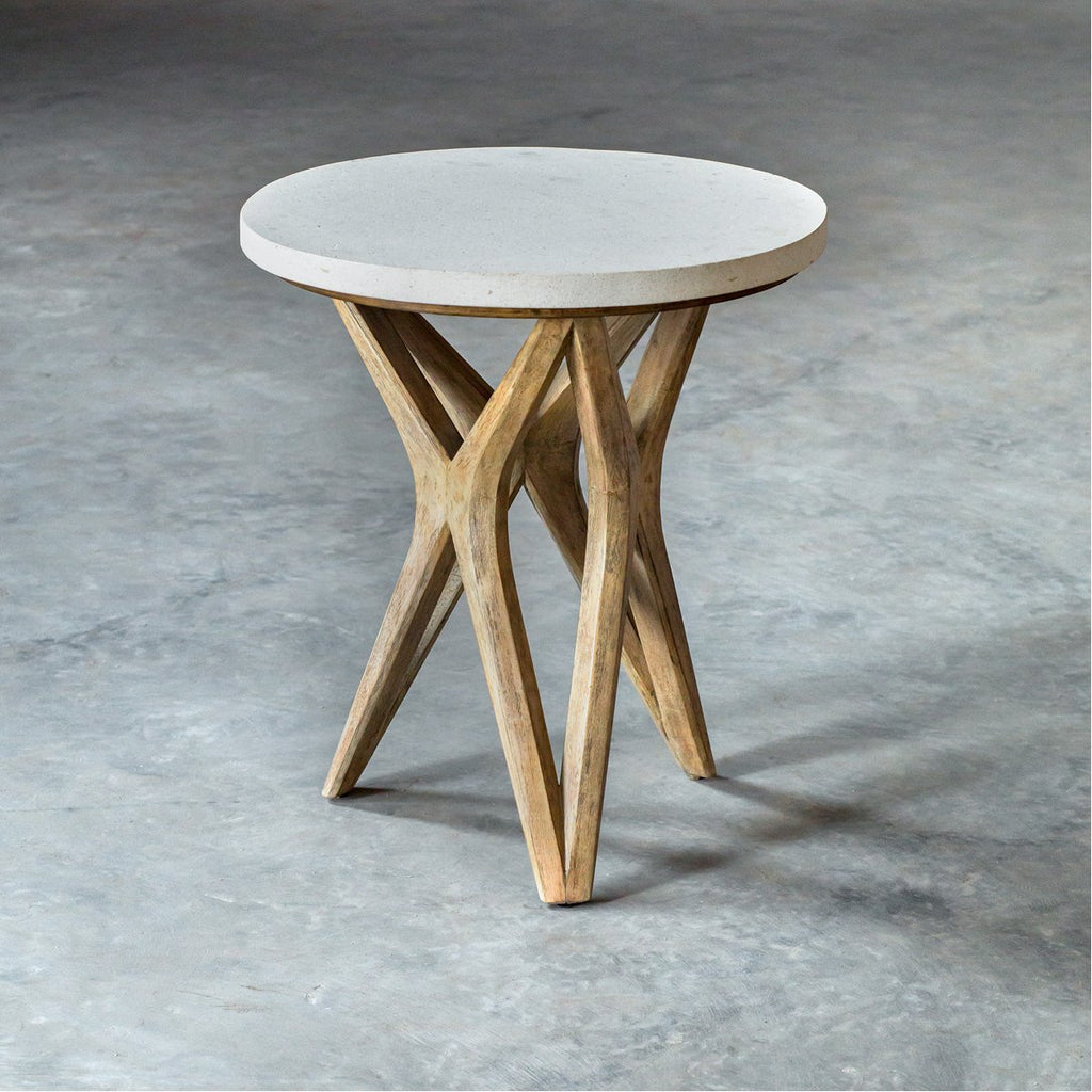 Uttermost Marnie Limestone Accent Table