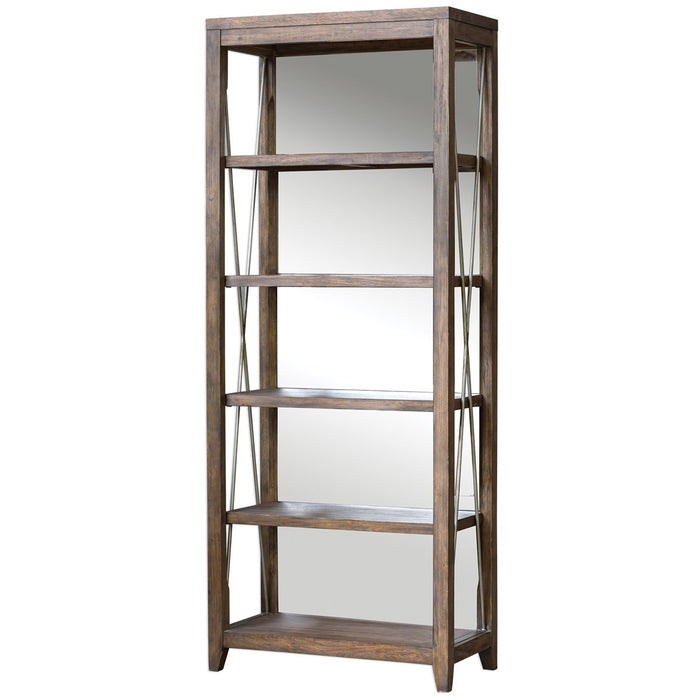 Uttermost Delancey Weathered Oak Etagere