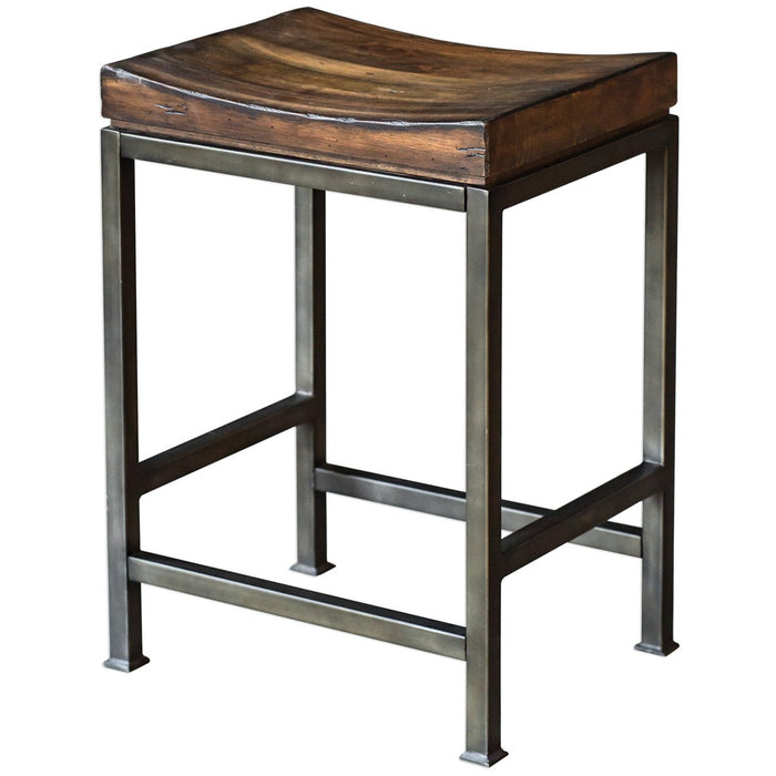 Uttermost Beck Wood Counter Stool