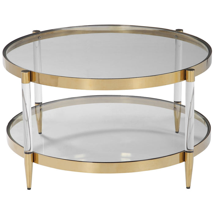 Uttermost Kellen Glass Coffee Table