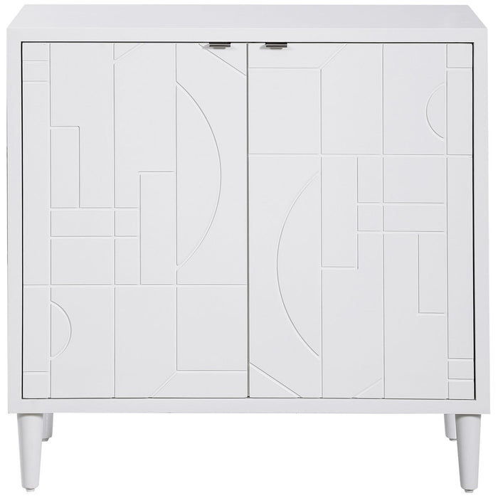 Uttermost Stockholm White 2 Door Cabinet