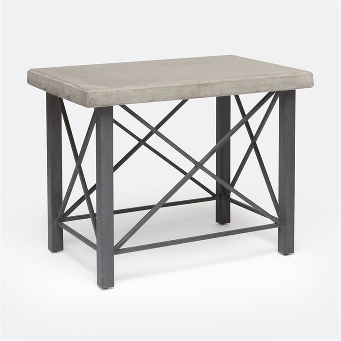 Made Goods Palmer Metal and Concrete Outdoor Side Table