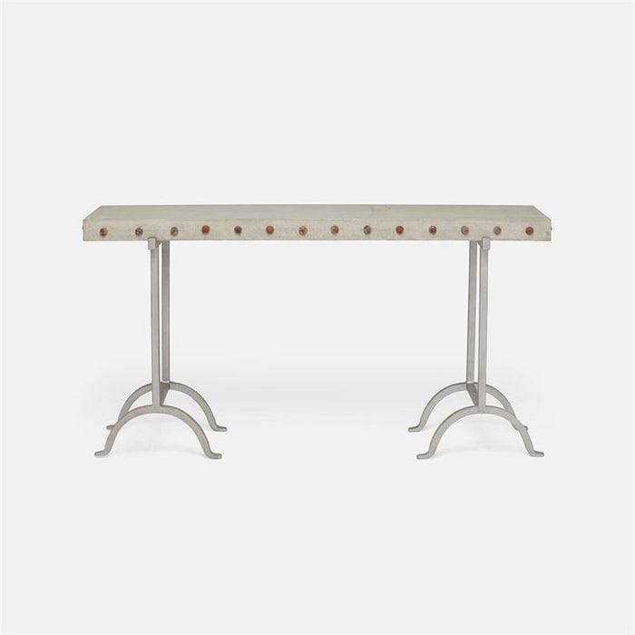 Made Goods Peter Metal and Concrete Console Table