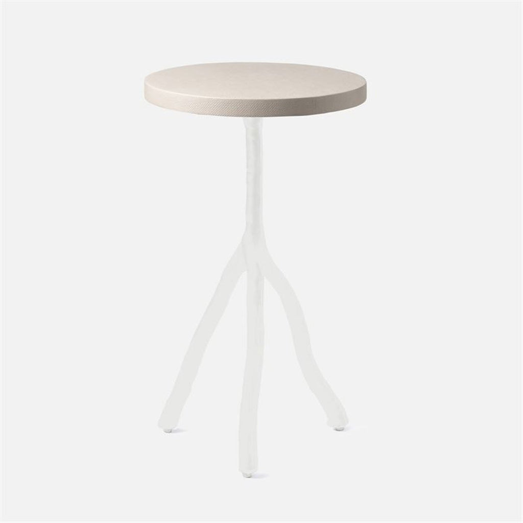 Made Goods Royce Abstract Branch 16-Inch Accent Table in Faux Canvas