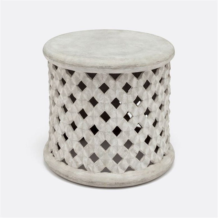 Made Goods Sandra Hexagonal Cut-Out Outdoor Stool
