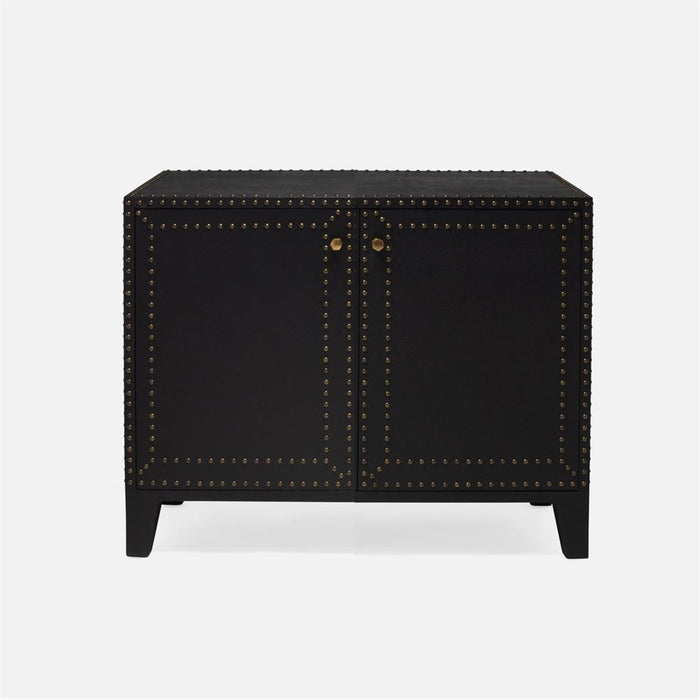 Made Goods Turner 40-Inch Faux Belgian Linen Studded Buffet