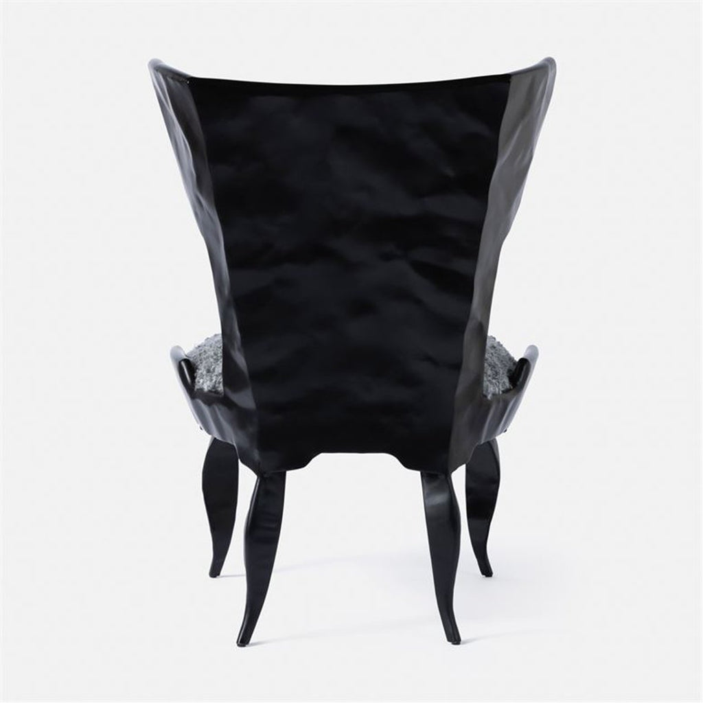 Made Goods Tybalt Iron Lounge Chair in Arno Fabric