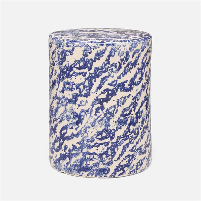 Made Goods Verena Marbleized Ceramic Outdoor Stool