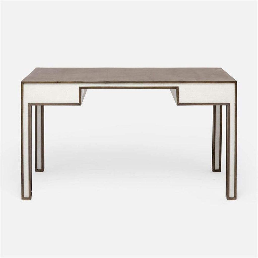 Made Goods Wolfred Faux Shagreen Oak Desk