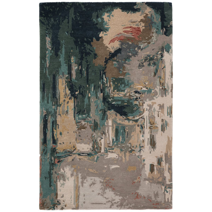 Jaipur Genesis Luella Abstract Teal Gray GES46 Rug