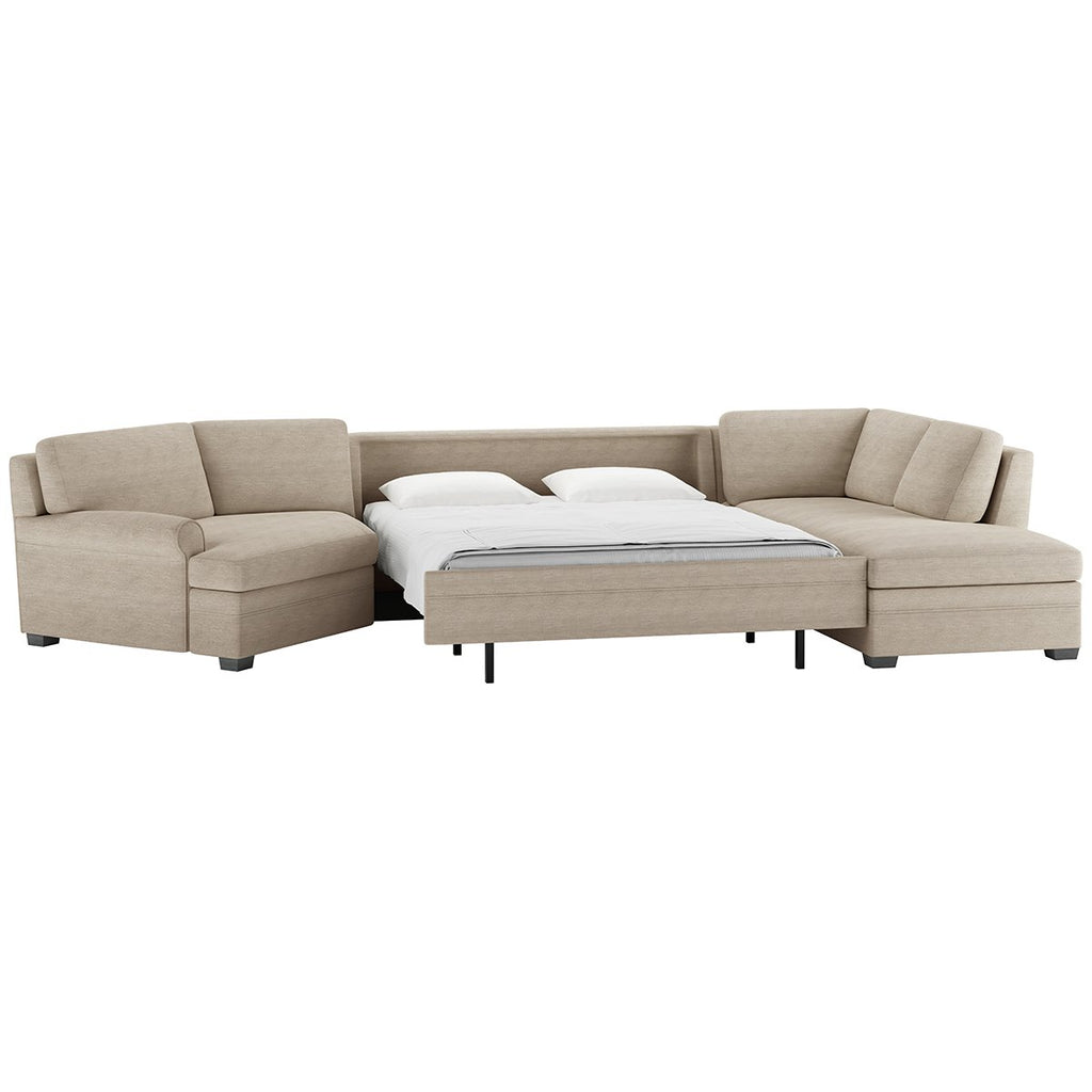Gaines Leather Comfort Sleeper by American Leather
