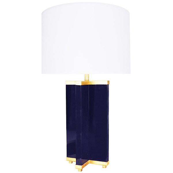 Worlds Away Cross Base Table Lamp with Gold Leaf
